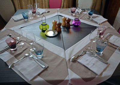 Table pour 4 en véranda